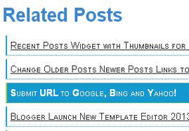 Related Posts Widget in Blog