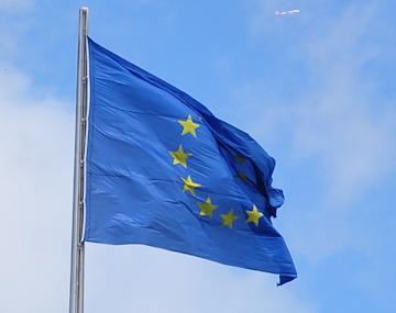 Die Fahne der EU - Wählen nicht vergessen!