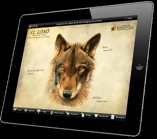 iFelix - Wolf para Android e iPad, Cuaderno de Campo de Félix Rodríguez de la Fuente
