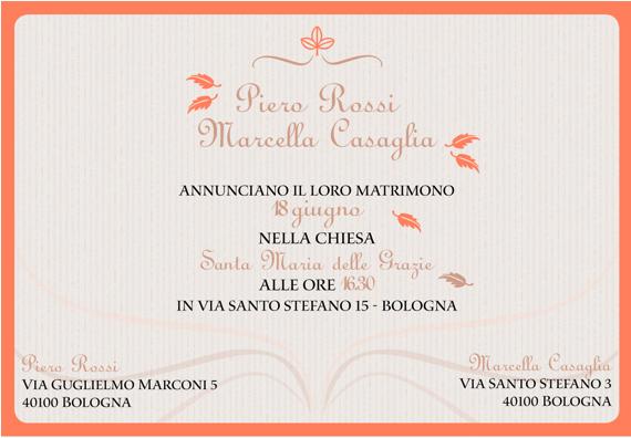 Matrimonio In Italiano : Oh my wedding partecipazioni in un click