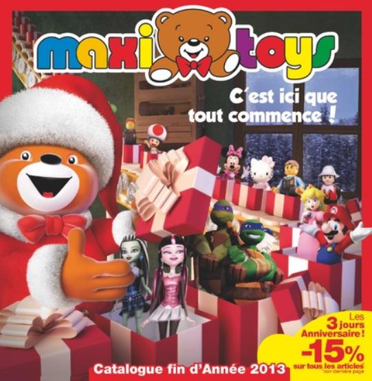 le blog des produits 100 rembours s maxitoys no l 2013 catalogue interactif des jouets de. Black Bedroom Furniture Sets. Home Design Ideas