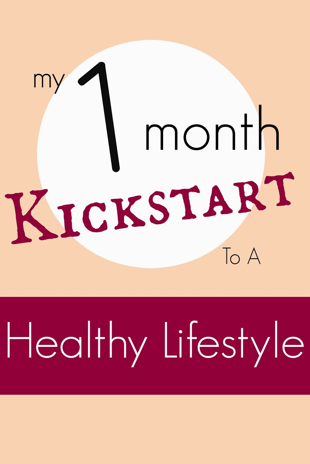 My 1 month kickstart to a healthy lifestyle