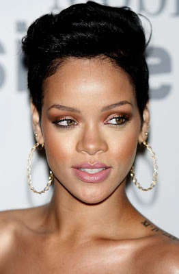 Rihanna Gold Hoops Earrings