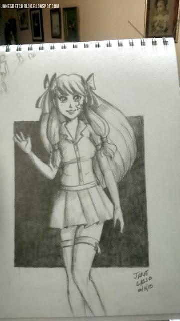Dibujo a lápiz de Melody