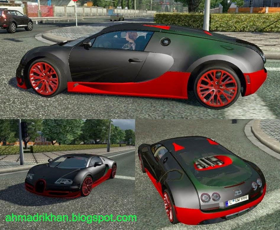download bugatti veyron al traffic car untuk ets 2 ahmad. Black Bedroom Furniture Sets. Home Design Ideas