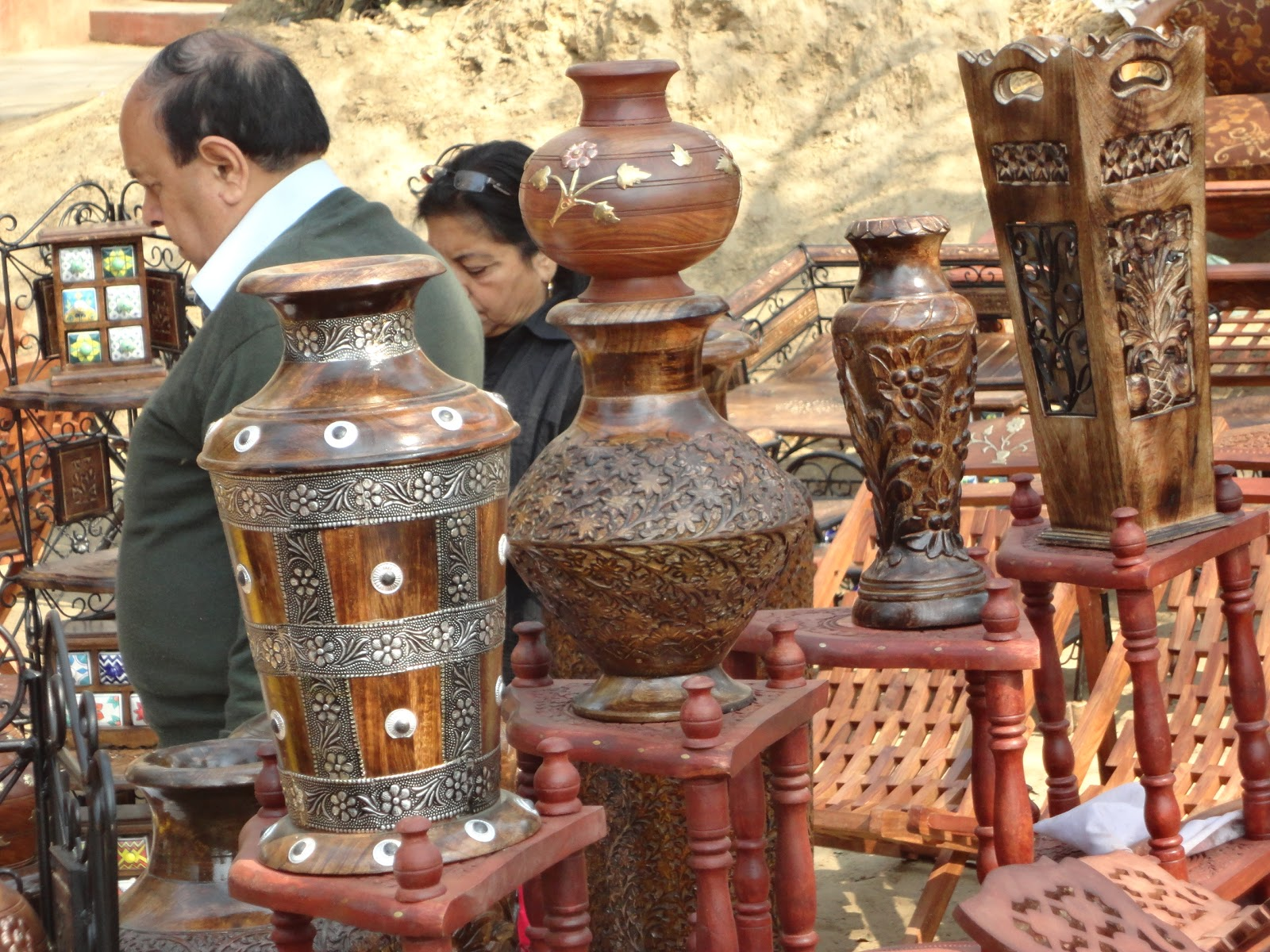 Woodwork Crafts at Surajkund Mela,India