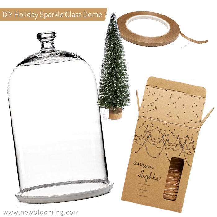 DIY Holiday Christmas Glass Dome Terrarium Tree