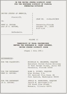 Kent Hovind's 2006 trial transcript