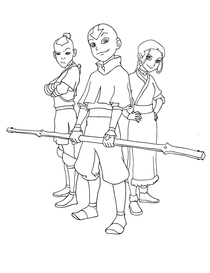 Avatar The Last Airbender Coloring Pages Coloring Pages Cartoon