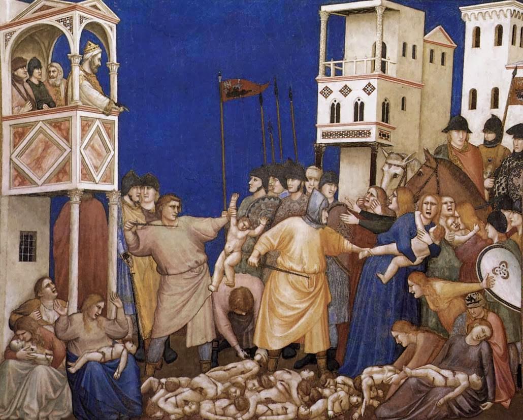 Giotto di Bondone, La masacre de los inocentes