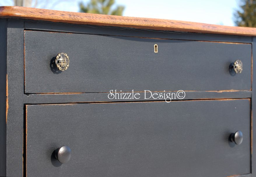 Shizzle Design Little Black Dresser Inspired By Pottery Barn