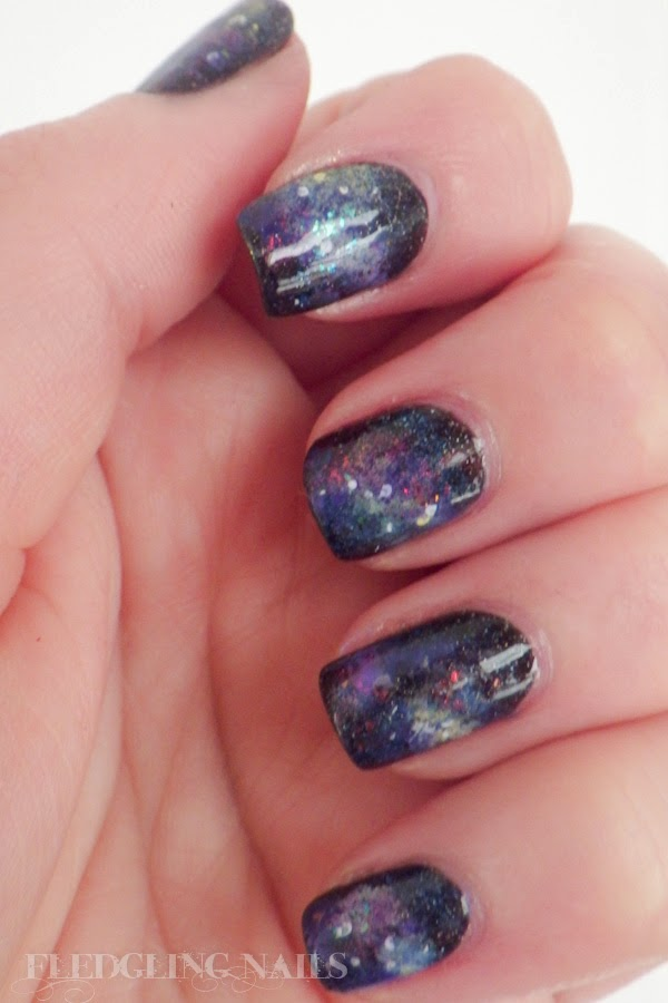 Fledgling Nails Nail Art Fingerfoods Theme Buffet 20 Galaxy Nails