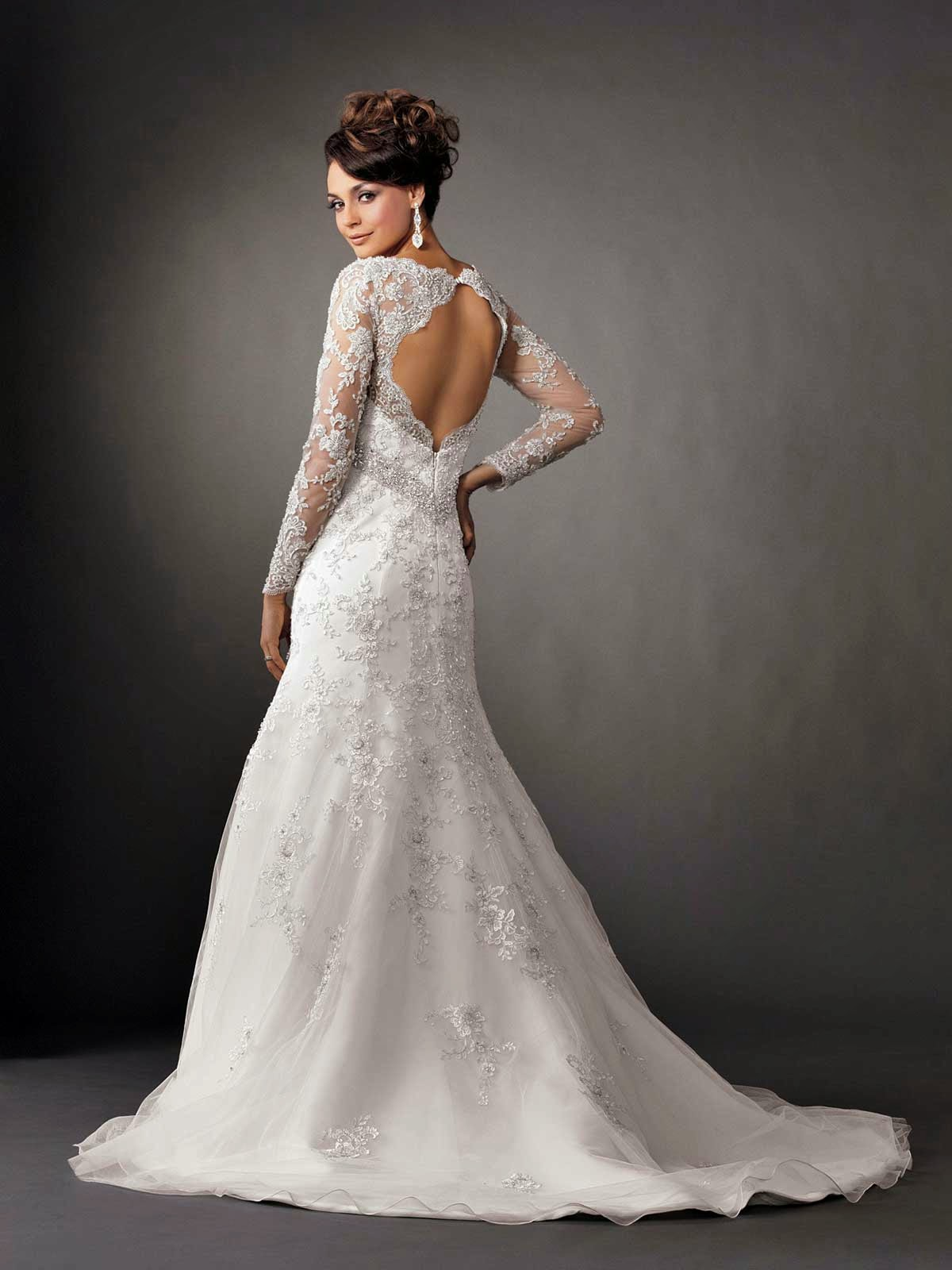 Mermaid Long Sleeves Wedding Dresses Photos HD Concepts Ideas