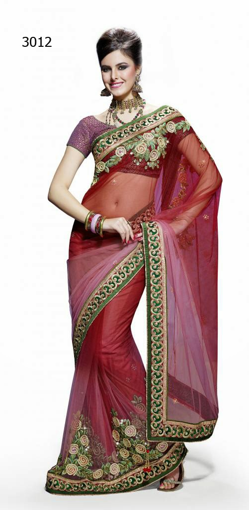 Letest Lengha type Saree-Online Shopping, Exclusive Designer Embroideries Resham Work Saree in Rajasthan
