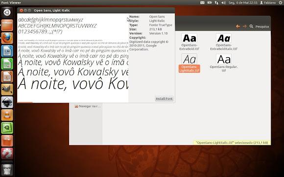 Instalando a fonte no Ubuntu