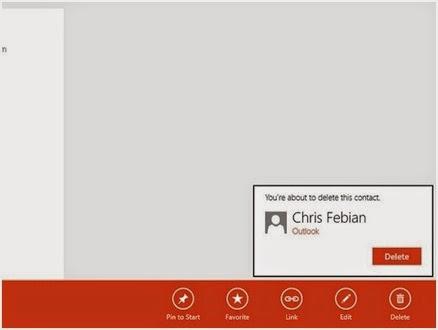Cara Yang Paling Mudah dalam Menghapus Kontak dari Aplikasi People di Windows 8