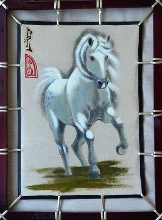 Монгольские картины на коже