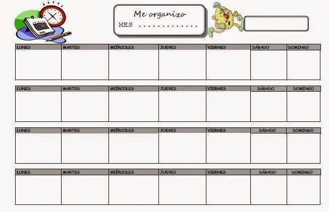 Plan mensual para organizarse mejor