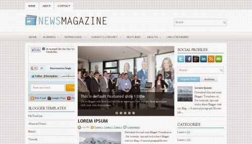 NewsMagazine - Free Blogger Template