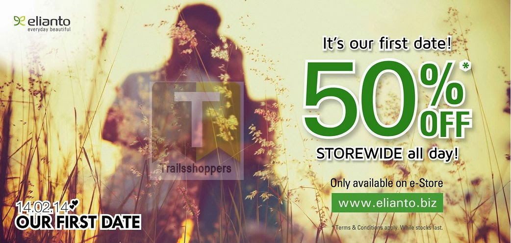 Elianto e-Store Our First Date Promo for Valentine Day