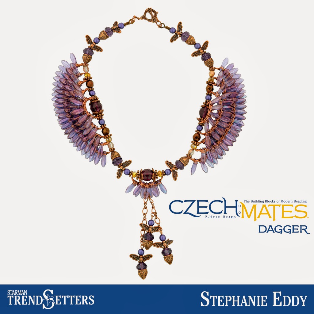 CzechMates Dagger necklace by Starman TrendSetter Stephanie Eddy