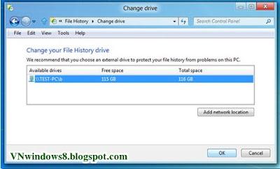 Thủ thuật Sao lưu dữ liệu tự động trong Windows 8?