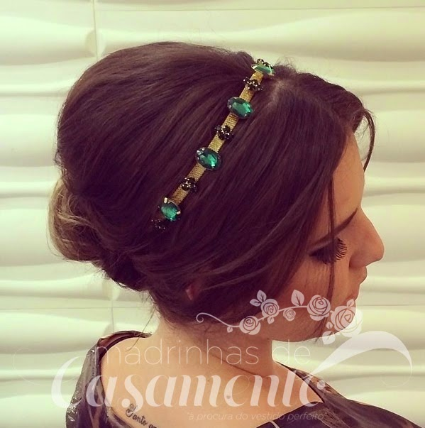 penteado madrinha com tiara