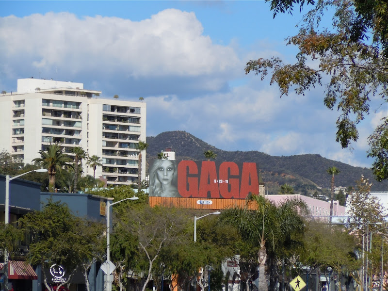 Lady Gaga billboard Santa Monica Boulevard