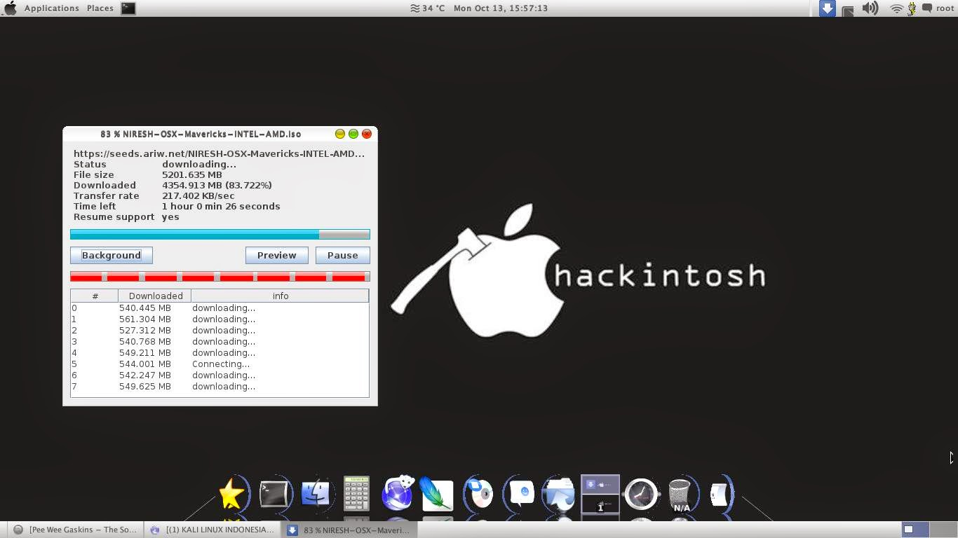 Tutorial Ganti Tema Kali Linux Jadi Tema Mac OS X