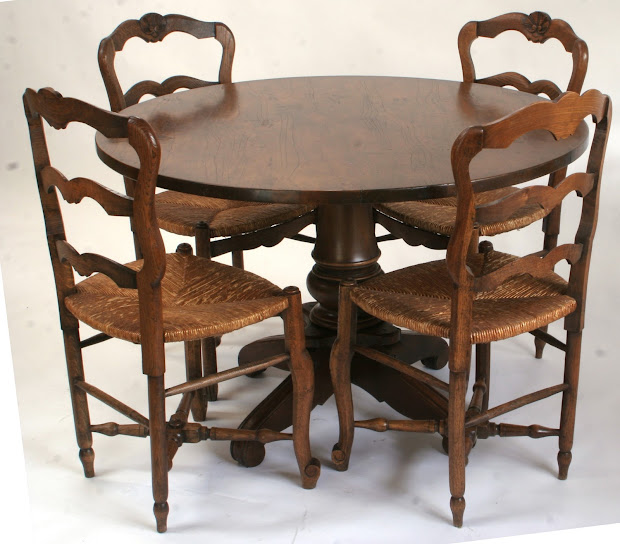 French Provincial Round Dining Table