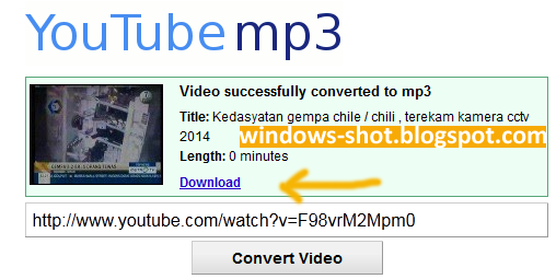 Cara Convert Video ke Mp3