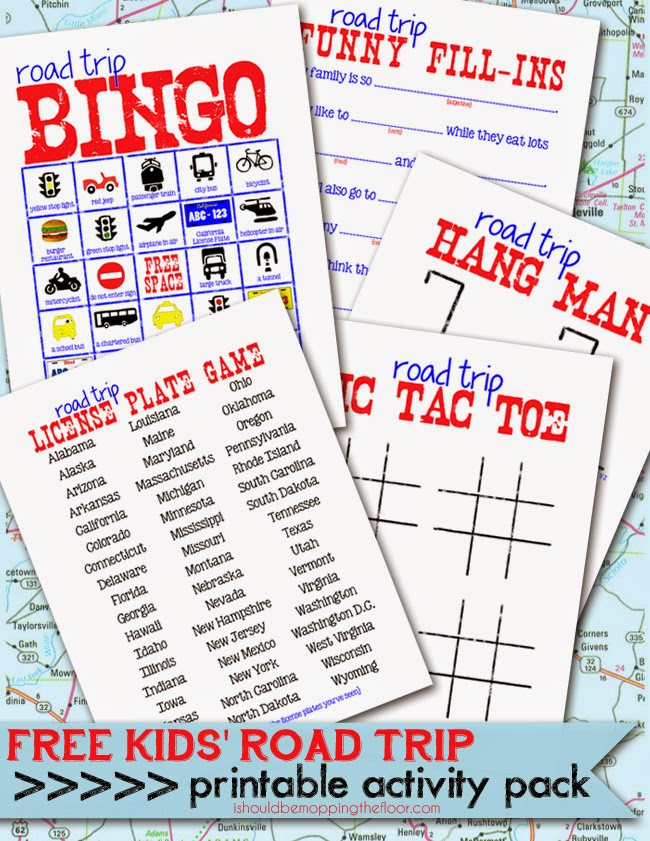 Road Trip Worksheets : I should be mopping the floor free printable kids road
