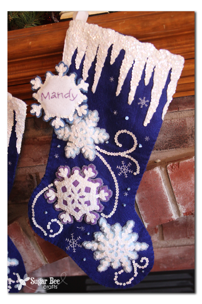 Intricate felt stockings sugar bee crafts bought 2 matching stocking kits and set to work the foundations of stocking memories to come there arent that many pieces on these ones solutioingenieria Images