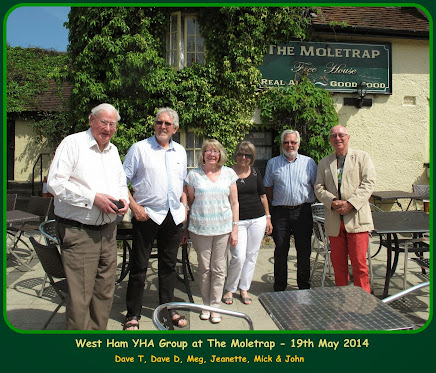 Six West Ham YHA Group members from the 1950s meet up