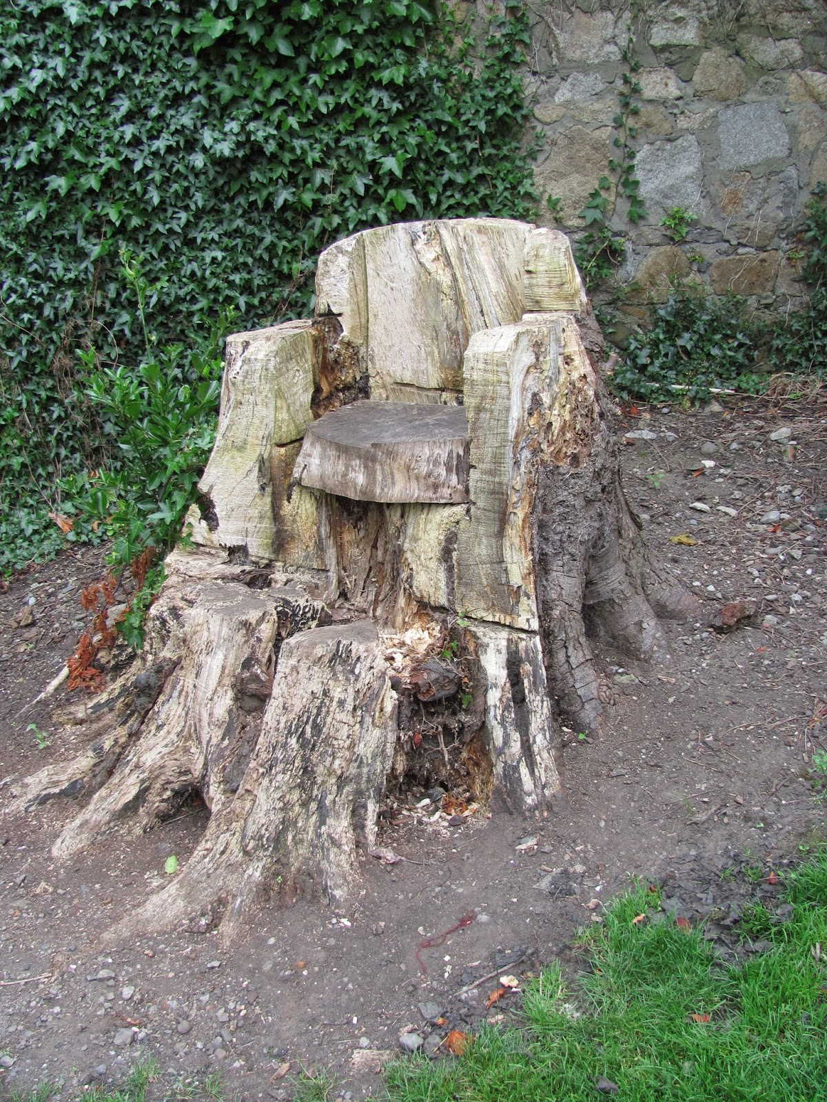 Tree Stump Chair Blackrock Park Co. Dublin
