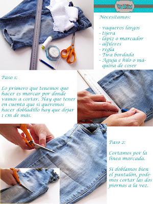 Tutorial pantalones vaqueros DIY