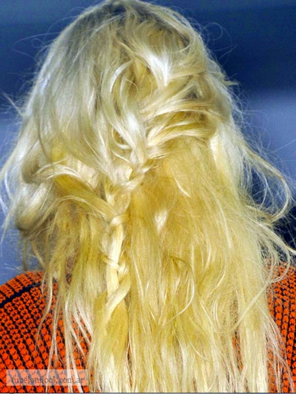 peinados 2015 con trenzas messy