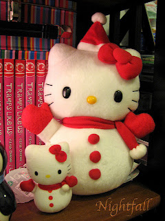 Hello Kitty snowman plush soft toy for Christmas