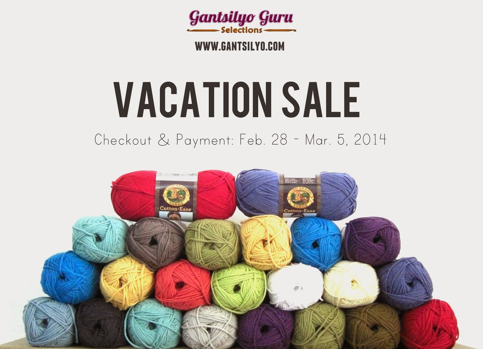 Yarn Sale from Feb. 28 to Mar. 5!