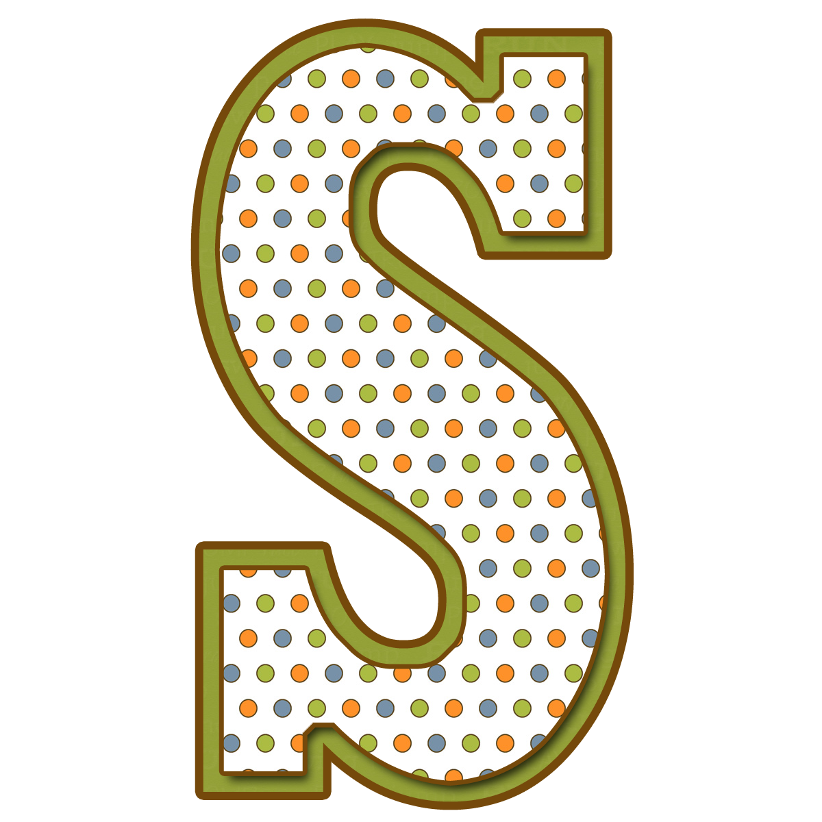 Resultado de imagen de letras abecedario de lunares verdes