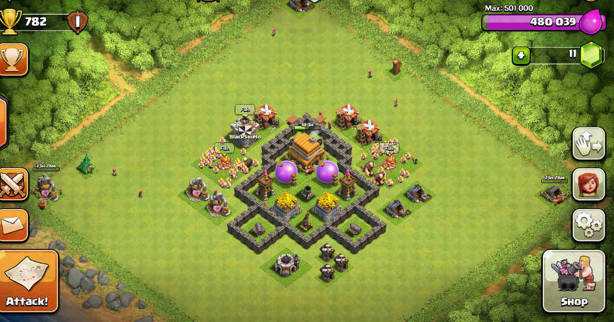 Base camp coc th 4 pro teknologi smartphone for Html table th 2 rows
