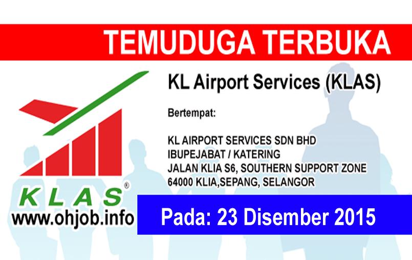 Jawatan Kerja Kosong KL Airport Services (KLAS) logo www.ohjob.info disember 2015