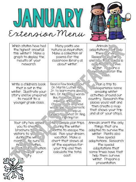 https://www.teacherspayteachers.com/Product/January-Extension-Menu-2319387