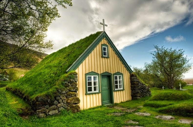 Hofskirkja Last Turf Church Hof Iceland Zabavnik