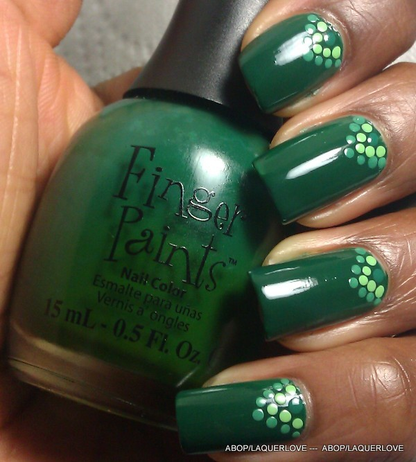 ANOTHER Bottle of Polish?!: Fingerpaints - Scenery Greenery, with dots!