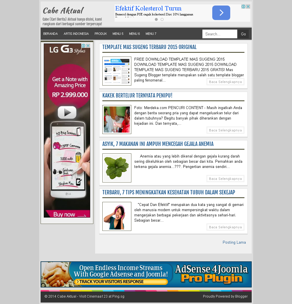 Cabica Blogger Template SEO Friendly