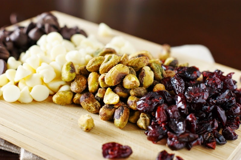 Dark and White Chocolate Cranberry Pistachio Cookies Ingredients