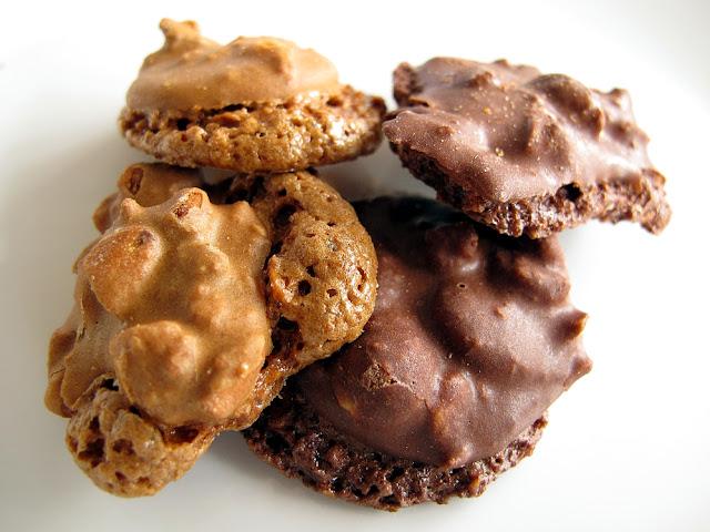 Biscuits croquants - amande café et chocolat noisette - Laurent Duchêne
