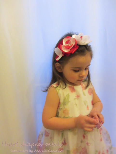 Fabric flower headband flower girl
