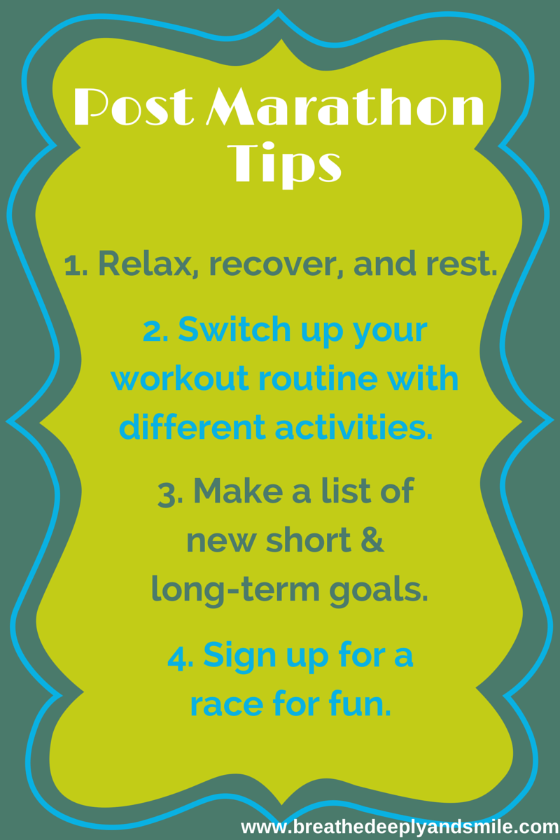 When You Don't Know What to Do: Post-Marathon Tips